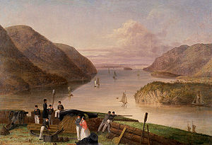 West Point, New York - Looking north on the Hudson River from West Point (Seth Eastman, 1875)