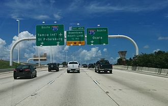 Interstate 4 - Approaching Malfunction Junction on westbound I-4