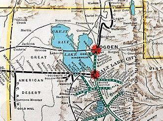 Western Pacific Railroad - Western Pacific in Utah 1931