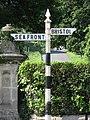 Weston-super-Mare Ashcombe Road - Finger Post Sign.jpg