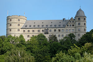 Die Wewelsburg, aus dem Almetal gesehen