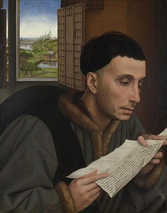 Ivo of Kermartin - Saint Ivo portrayed by Rogier van der Weyden (15th century)
