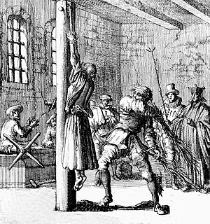 Corporal punishment - Birching, Germany, 17th century