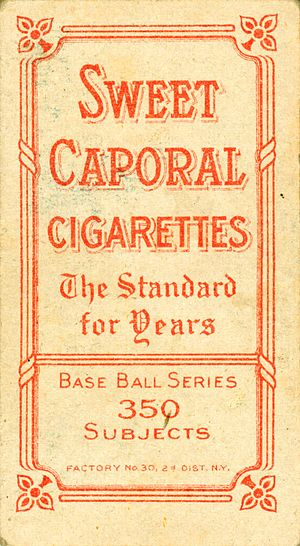 Kinney Brothers Tobacco Company - Sweet Caporal cigarettes advertising card