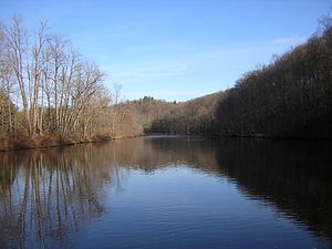 Flat River (Michigan) - Flat River upstream from Whites Bridge, Fall 2006