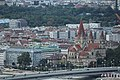 Wien-Donauturm, Blick zur Franz-von-Assisi-Kirche.JPG