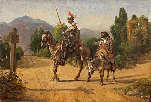 Wilhelm Marstrand, Don Quixote og Sancho Panza ved en skillevej, uden datering (efter 1847), 0119NMK, Nivaagaards Malerisamling