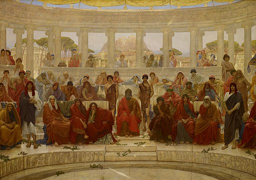 William Blake Richmond - An Audience in Athens During Agamemnon by Aeschylus