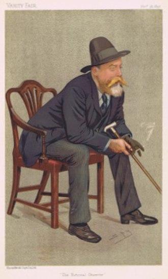 Invictus - Image: William Ernest Henley Vanity Fair 1892 11 26