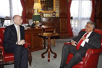 Ranil Wickremesinghe - Opposition Leader Wickremasinghe meeting British Foreign Secretary William Hague