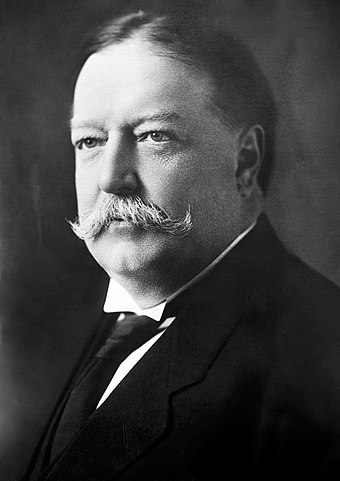 President and Chief Justice William Howard Taft graduated from Yale in 1878. William Howard Taft, Bain bw photo portrait, 1908.jpg
