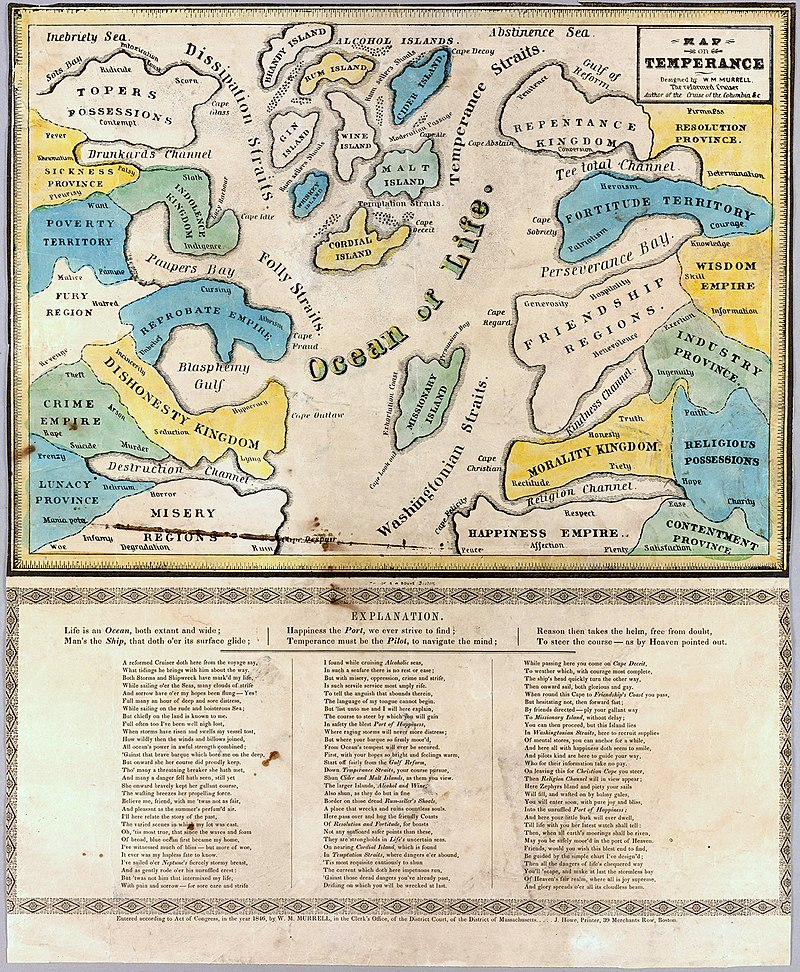 William Meacham Murrell, Map on Temperance, 1846 Cornell CUL PJM 1052 01.jpg