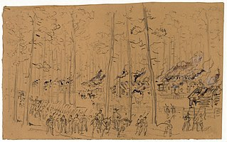 William Waud - Burning of McPhersonville 1865 - original sketch.jpg