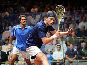 James Willstrop - Willstrop and Karim Darwish in action