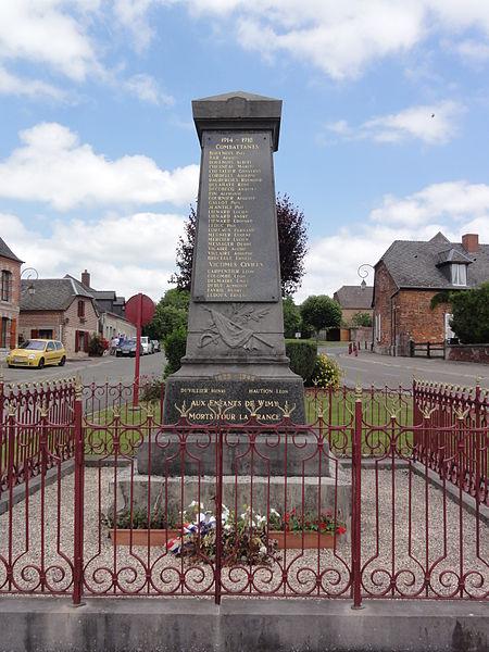 Wimy (Aisne) monument aux morts