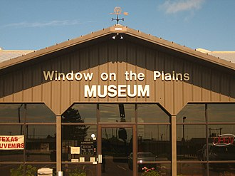 Window on the Plains Museum - Entrance to Window on the Plains Museum in Dumas, Texas