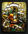 Window to honor his parents' 50th wedding anniversary, by Louis Comfort Tiffany, Tiffany Glass and Decorating Company, c. 1891, leaded glass - New Britain Museum of American Art - DSC09670.JPG