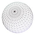 A highly tassellated wireframe sphere, almost 2900 points.