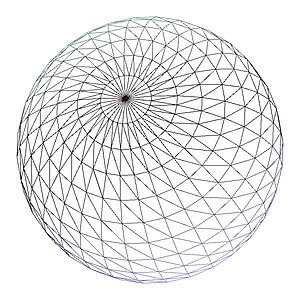 Level of detail - A highly tassellated wireframe sphere, almost 2900 points.