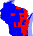 Wisconsin Gubernatorial Election Results by county, 2006.png