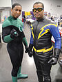 Wizard World Anaheim 2011 - Green Lantern and Black Lightning (5674469991).jpg