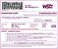 Wizz Air - boarding pass from web checkin W6 372 Cologne-Gdansk 2010-07-06.jpg