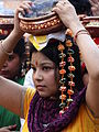 Woman in Hindu Religious Procession - BBD Bagh District - Kolkata.jpg