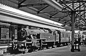 Worksop railway station - Worksop Station in 1957