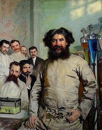 Intelligentsia - The surgeon Ludwik Rydygier and his assistants. (Portrait by Leon Wyczółkowski)