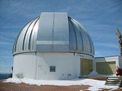 Dome of the Wyoming Infrared Observatory telescope on Jelm Mountain