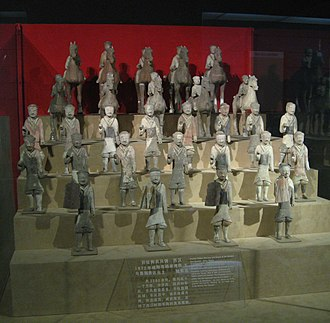 Emperor Wu of Han - Ceramic figurines of soldiers, both infantry and cavalry, Western Han period, Shaanxi History Museum, Xi'an
