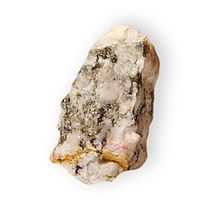 Xonotlite Hydrous calcium silicate Point Shivery near Cox' Cove Bay of Islands Newfoundland 1928.jpg