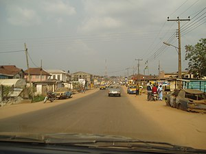 Ondo City - Image: Yaba Street, Ondo