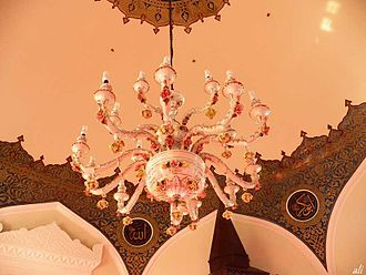 Yalı Mosque - Chandelier in the interior