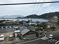 Yamagawa Bay from train on south side of Yamakawa Station.jpg