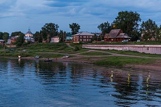 Yeniseysk Town in Krasnoyarsk Krai, Russia