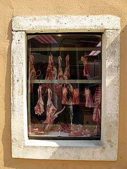Butcher's Shop Window. Photo Credit: Joadl