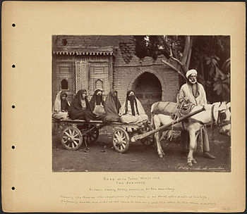 Zangaki. 0896. Arab with Three Wives and Two Servants.jpg