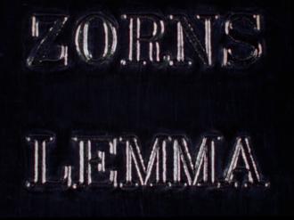 Zorns Lemma (film) - Title screen