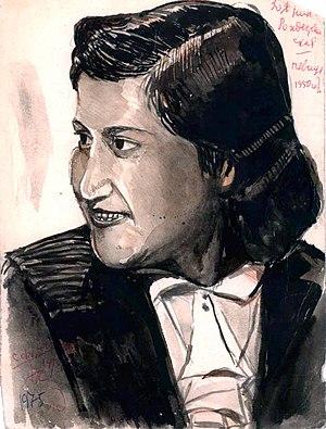 Zoya Rozhdestvenskaya - Zoya Rozhdestvenskaya portrait, 1950