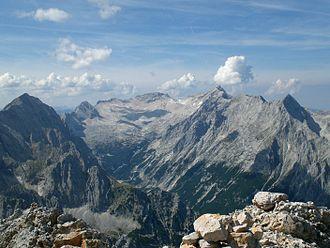 Zugspitze - The Zugspitzplatt above the Reintal valley in 2006