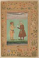 """Jahangir and his Father, Akbar"", Folio from the Shah Jahan Album MET DP240813.jpg"