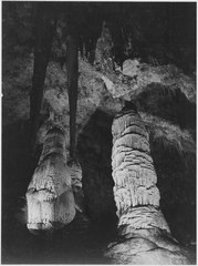 """The Giant Dome, largest stalagmite thus far discovered. It is 16 feet in diameter and estimated to be 60 million years - NARA - 520030.tif"
