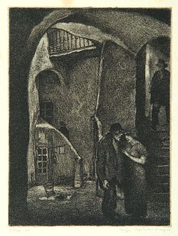 """Vice"", page 10 from the book ""Der Golem"", illustrated by Hugo Steiner-Prag"