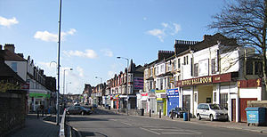 Crofton Park - View of the high street in Crofton Park, London SE4, 2009