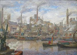 'The Port of London' by Anders Svarstad, Bergen Kunstmuseum.JPG