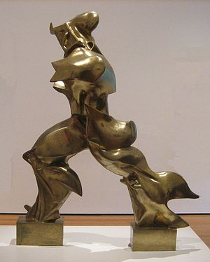 'Unique Forms of Continuity in Space', 1913 bronze by Umberto Boccioni.jpg