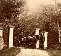 (John and Elisabeth Grieg at the gate of Landås farmhouse) (4007688471).jpg