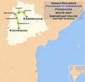 (Kacheguda - Karimnagar) Passenger (via Nizamabad) route map.png