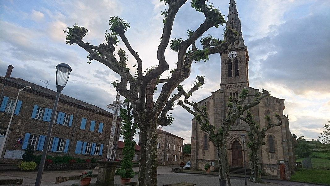 Église du village Colombier-le-Vieux